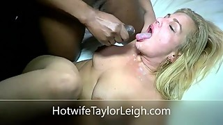 Hotwife leigh taylor eats two loads of semen hot