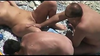 Naked the beach cuckold wife 3