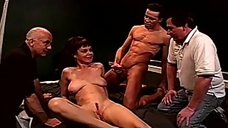 Anal threesome swinger wife fucks a stranger