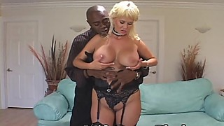 A strong woman takes new black cock