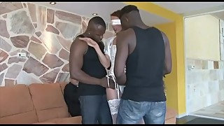Hot wife plays with big black cocks 3