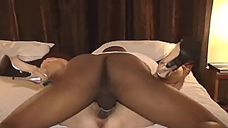 Slutwife in high heels pounded by a big black cock
