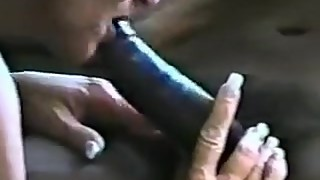 Trashy mature woman with a big black dick 2