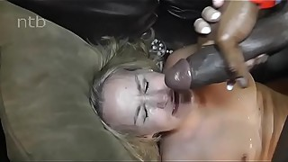 Blonde milf fucks black pool cleaner and gets a facial. (the title