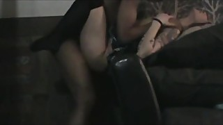 Indoor hot woman is implacable big black cock pounding. amazing interracial action