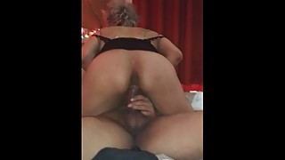 The women's travels to latin support with her husband till he cums