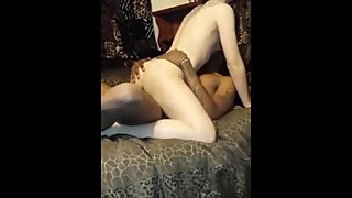 Wife sucks a big black cock to spicygirlcam.com
