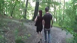 Mature amateur wife outdoor hardcore action with 2 guy