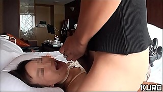 Amateur wife with her husband on a business trip 04