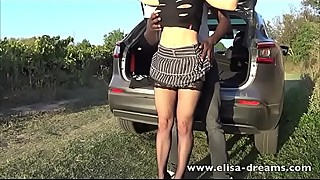 Hotwife gets fucked by a young big black cock in the outdoors