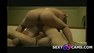 My wife dp threesome with my best friend