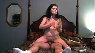 Wife cock ride and a dp with big dick and