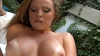 Big oiled up hot ass mom hard anal