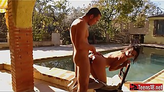 Hot fuck in pool