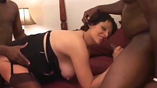 Pregnant mature woman flavor in all the cracks two raw big black cock
