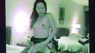 Cuckold. thai woman to feel big black cock in the stomach.