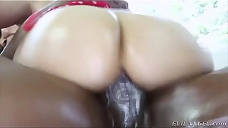 Awesome big oiled black cock