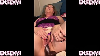 Ensexy1 cuckold movies: big black cock on a dildo woman abandoned