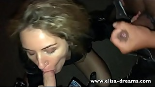 Sexy hotwife fucked outdoor by a stranger