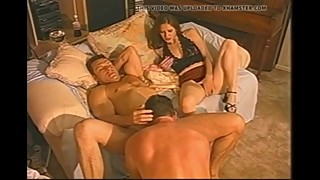 Wife watches husband fuck cuckold friend