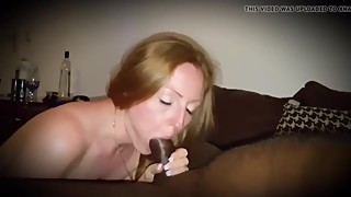 The red-haired wife, what a big black penis while husband records