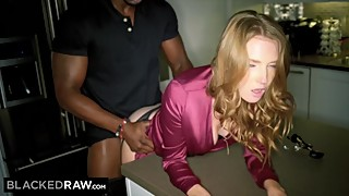 Blackedraw insatiable wife begs big black cock as soon as her husband has gone missing