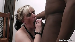 The woman leaves and he fucks blonde bbw before