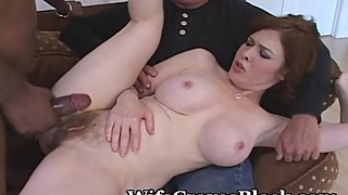 White creamy pussy shared black lover