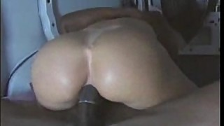 Horny wife takes big black cock in her ass